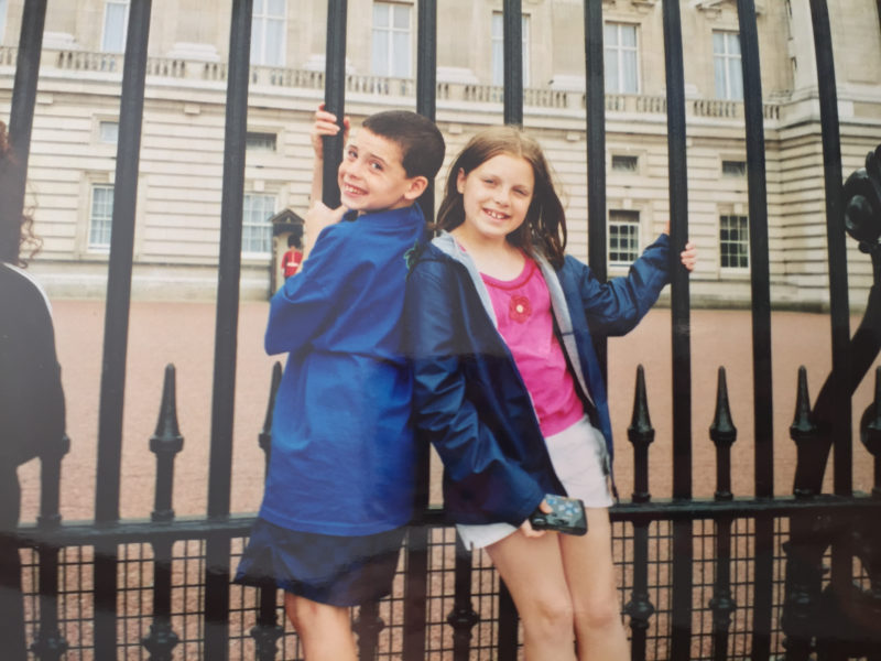 Catching the travel bug at age 11 in London (with my little brother, Jake)