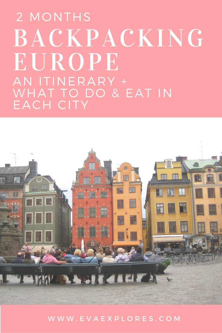 backpacking europe 2 month itinerary what to do while youre traveling